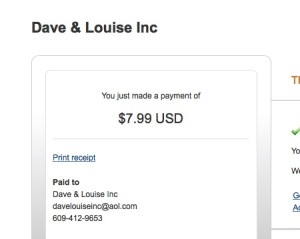 Dave thanks you. Louise thanks you. Who is Louise?