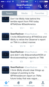 PW Torch's Sean Radican has recently had Dave Meltzer's back in the TNA story