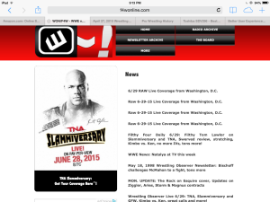 Overzealous Jeff Hamlin takes over F4W homepage with Raw Live Coverage links