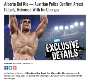 Ryan Satin's piece is claiming no charges were filed in the case