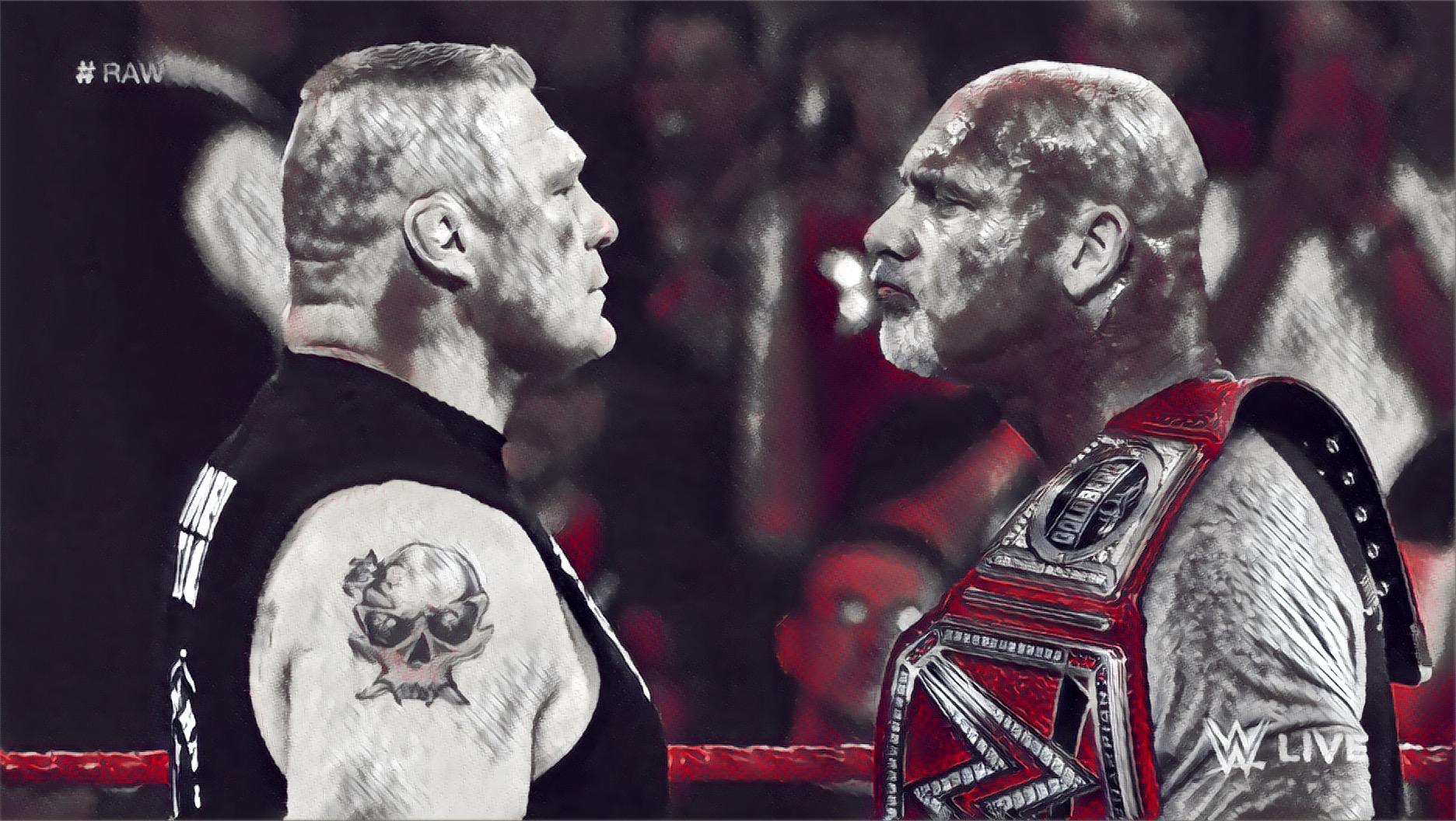 Goldberg vs Lesnar set for Mania
